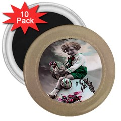 Victorian Easter Ephemera 3  Button Magnet (10 pack)