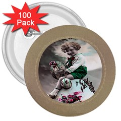 Victorian Easter Ephemera 3  Button (100 pack)