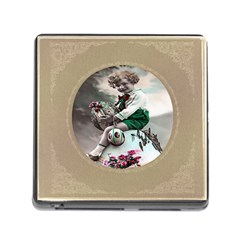 Victorian Easter Ephemera Memory Card Reader with Storage (Square)