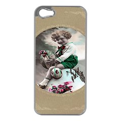 Victorian Easter Ephemera Apple iPhone 5 Case (Silver)