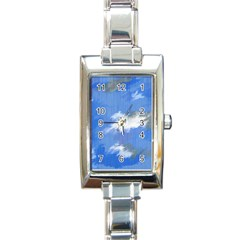 Abstract Clouds Rectangular Italian Charm Watch