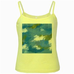 Abstract Clouds Yellow Spaghetti Tank