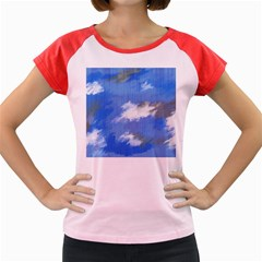 Abstract Clouds Women s Cap Sleeve T Shirt (colored)