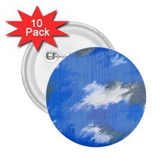 Abstract Clouds 2 25  Button (10 Pack)