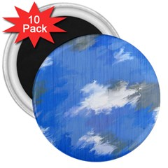 Abstract Clouds 3  Button Magnet (10 pack)