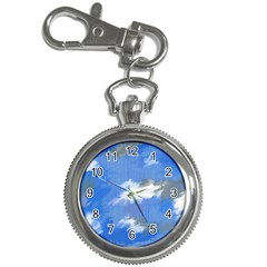 Abstract Clouds Key Chain Watch