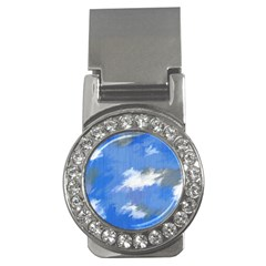 Abstract Clouds Money Clip (CZ)