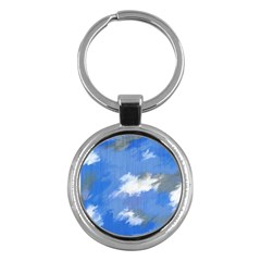 Abstract Clouds Key Chain (Round)