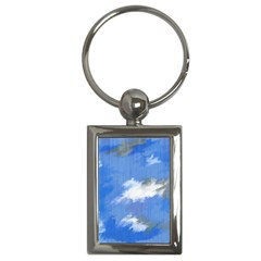 Abstract Clouds Key Chain (Rectangle)