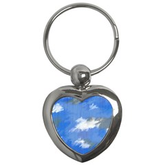 Abstract Clouds Key Chain (heart)