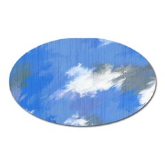 Abstract Clouds Magnet (Oval)