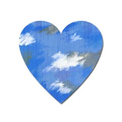 Abstract Clouds Magnet (Heart)