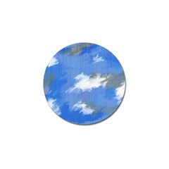 Abstract Clouds Golf Ball Marker