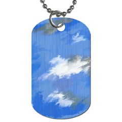 Abstract Clouds Dog Tag (Two-sided)