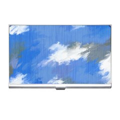 Abstract Clouds Business Card Holder