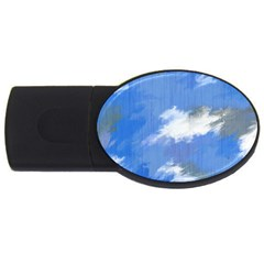Abstract Clouds 1GB USB Flash Drive (Oval)