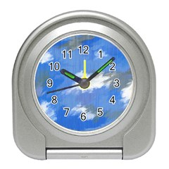 Abstract Clouds Desk Alarm Clock