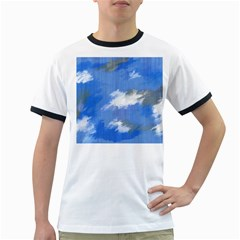 Abstract Clouds Men s Ringer T Shirt