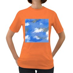 Abstract Clouds Women s T-shirt (Colored)