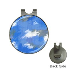 Abstract Clouds Hat Clip With Golf Ball Marker
