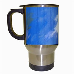 Abstract Clouds Travel Mug (White)