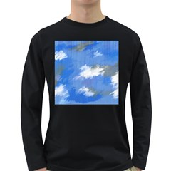 Abstract Clouds Men s Long Sleeve T-shirt (Dark Colored)