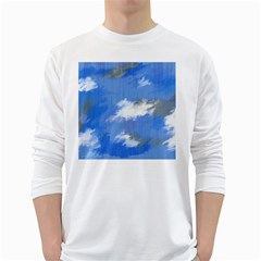 Abstract Clouds Men s Long Sleeve T-shirt (White)