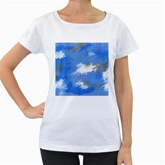 Abstract Clouds Women s Maternity T-shirt (White)
