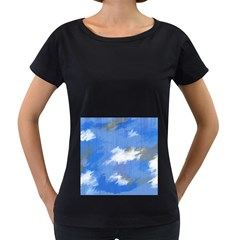 Abstract Clouds Women s Maternity T Shirt (black)