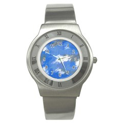 Abstract Clouds Stainless Steel Watch (slim)