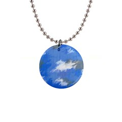 Abstract Clouds Button Necklace