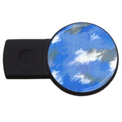 Abstract Clouds 4GB USB Flash Drive (Round)