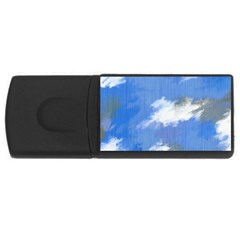 Abstract Clouds 4GB USB Flash Drive (Rectangle)