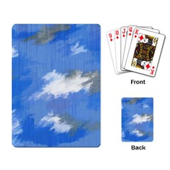 Abstract Clouds Playing Cards Single Design