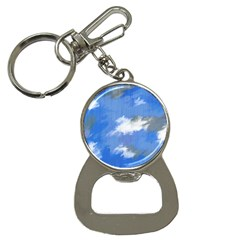 Abstract Clouds Bottle Opener Key Chain