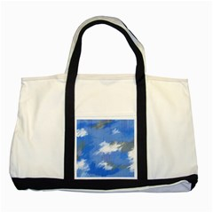 Abstract Clouds Two Toned Tote Bag