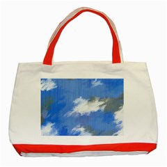 Abstract Clouds Classic Tote Bag (Red)
