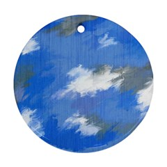 Abstract Clouds Round Ornament (Two Sides)