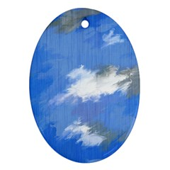 Abstract Clouds Oval Ornament (Two Sides)