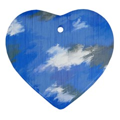 Abstract Clouds Heart Ornament (Two Sides)