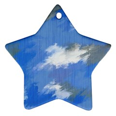 Abstract Clouds Star Ornament (Two Sides)