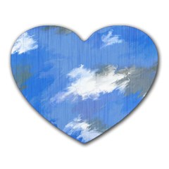 Abstract Clouds Mouse Pad (Heart)