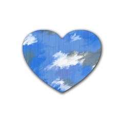 Abstract Clouds Drink Coasters 4 Pack (Heart)