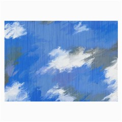 Abstract Clouds Glasses Cloth (Large, Two Sided)