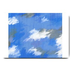 Abstract Clouds Large Door Mat