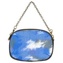Abstract Clouds Chain Purse (two Sided)