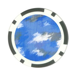 Abstract Clouds Poker Chip (10 Pack)