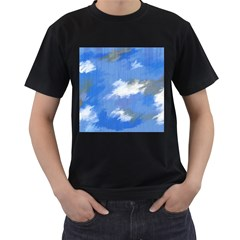 Abstract Clouds Men s T-shirt (Black)