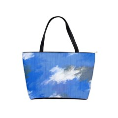 Abstract Clouds Large Shoulder Bag