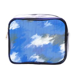 Abstract Clouds Mini Travel Toiletry Bag (one Side)